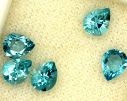 BLUE TOPAZ NATURAL FACETED (5 PCS) 2 CTS   PG-1450