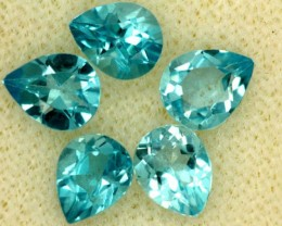 BLUE TOPAZ NATURAL FACETED (5 PCS) 2 CTS PG-1458