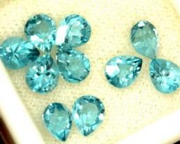 BLUE TOPAZ NATURAL FACETED (10 PCS) 4 CTS  PG-1451
