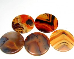 128 CTS FIVE X 36 MM DI   UNIQUE CRAZY   AGATE   AGR 384