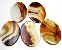 204 CTS FIVE 50X35 MM DI   UNIQUE CRAZY   AGATE   AGR 395