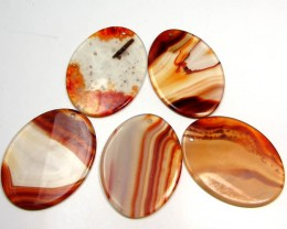 208 CTS FIVE 50X35 MM DI   UNIQUE CRAZY   AGATE   AGR 397