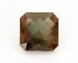 SALE WAS $17,500 ~ 17.1ct, Oregon Sunstone, Dichroic Square  (S227)