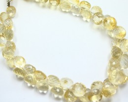 205 CTS CITRINE BEADS STRAND NATURAL FACETED RONDELLS