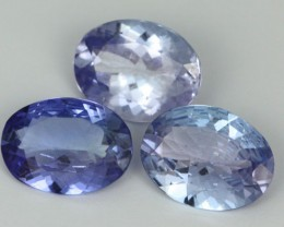 3.09 CTS PARCEL DEAL 8x6mm VVS TANZANITE STONE [SB773]