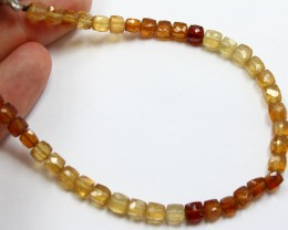 63 CTS CITRINE BEADS STRAND NATURAL FACETED