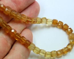 66 CTS CITRINE BEADS STRAND NATURAL FACETED