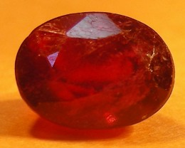 CERT 1.39 CTS FACETED  RED RUBY  11 936