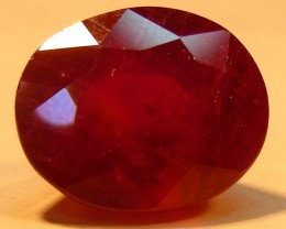 CERT 6.50 CTS FACETED  RED RUBY  11 939