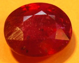 CERT 4.20 CTS FACETED  RED RUBY  11 940