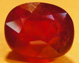 CERT 7.50 CTS FACETED  RED RUBY  11 948