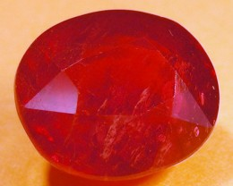 CERT 6.3 CTS FACETED  RED RUBY  11 949