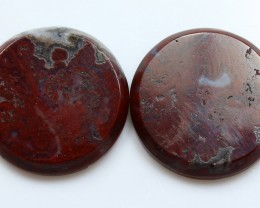 32.90 CTS PLUM AGATE PAIR PAUL BUNYAN CALIFORNIA AREA