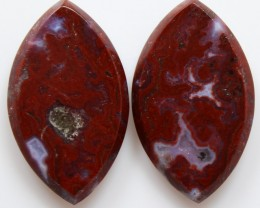 19.55 CTS PLUM AGATE PAIR PAUL BUNYAN CALIFORNIA AREA