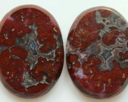 22.45 CTS PLUM AGATE PAIR PAUL BUNYAN CALIFORNIA AREA