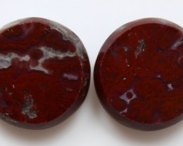 18.05 CTS PLUM AGATE PAIR PAUL BUNYAN CALIFORNIA AREA