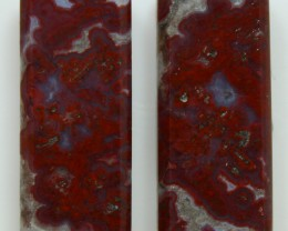 21.55 CTS PLUM AGATE PAIR PAUL BUNYAN CALIFORNIA AREA