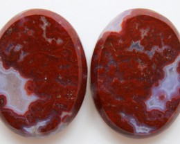 29.90 CTS PLUM AGATE PAIR PAUL BUNYAN CALIFORNIA AREA