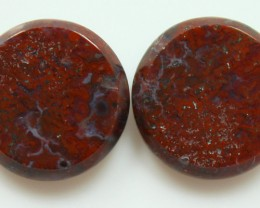 18.00 CTS PLUM AGATE PAIR PAUL BUNYAN CALIFORNIA AREA