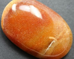 71.35 CTS CHALCEDONY ORANGE LARGE CABOCHON CUT STONE