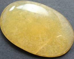 64.50 CTS CHALCEDONY ORANGE LARGE CABOCHON CUT STONE