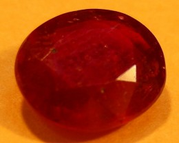 CERT 1.83 CTS FACETED  RED RUBY  11 901
