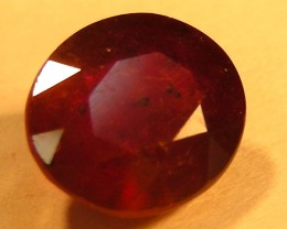 CERT 1.85 CTS FACETED  RED RUBY  11 907