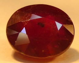 CERT 2.20 CTS FACETED  RED RUBY  11 913