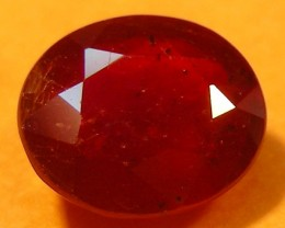 CERT 1.70 CTS FACETED  RED RUBY  11 921