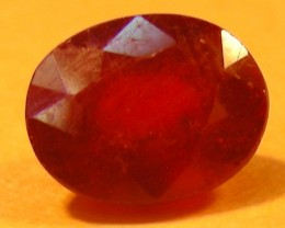 CERT 1.54 CTS FACETED  RED RUBY  11 928