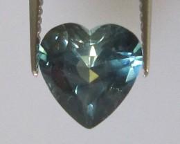 1.35cts Natural Australian Blue Parti Sapphire Heart Shape
