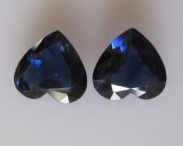 2.35cts Natural Matching Australian Heart Shape Sapphires