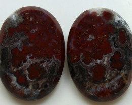 30.40 CTS PLUM AGATE PAIR PAUL BUNYAN CALIFORNIA AREA