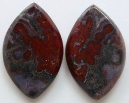 20.30 CTS PLUM AGATE PAIR PAUL BUNYAN CALIFORNIA AREA