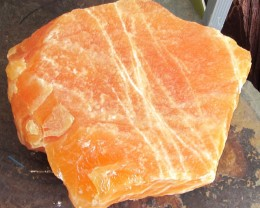 12 KILO LARGE ORANGE CALCITE SPECIMEN MYGS 257