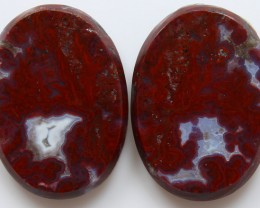 36.60 CTS PLUM AGATE PAIR PAUL BUNYAN CALIFORNIA AREA
