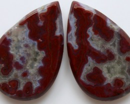 24.90 CTS PLUM AGATE PAIR PAUL BUNYAN CALIFORNIA AREA