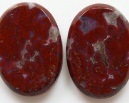34.75 CTS PLUM AGATE PAIR PAUL BUNYAN CALIFORNIA AREA