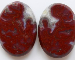 30.30 CTS PLUM AGATE PAIR PAUL BUNYAN CALIFORNIA AREA