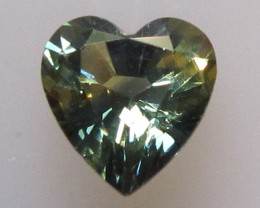 0.99cts Natural Australian Parti Colour Sapphire Heart Shape