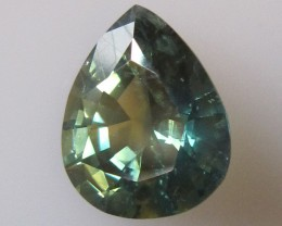 3.81cts Natural Australian Parti Colour Sapphire Pear Shape