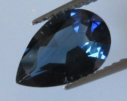 1.70cts Natural Australian Blue Pear Shape Sapphire