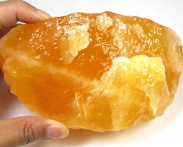 652 GRAMS  ORANGE CALCITE SPECIMEN  MYGS 278