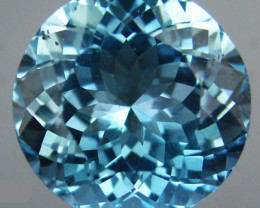 6.05 CTS FABULOUS OVAL NATURAL AQUA COLOR TOPAZ BRAZIL~EXCELLENT!!