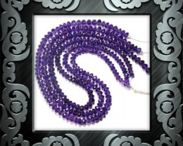 "Purple Amethyst faceted Beads 5.5 - 7mm 16"" line AA Grade"