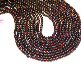 4mm Dark red round GARNET beads 13.5 inch  line