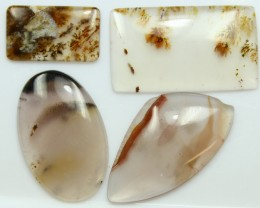 41.45 CTS - 4 PCS DENDRITIC AGATE PARCEL POLISHED STONES