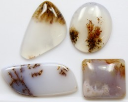 44.95 CTS - 4 PCS DENDRITIC AGATE PARCEL POLISHED STONES