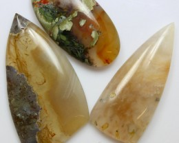 71.30 CTS  - 3 PCS AGATE POLISHED STONE PARCEL