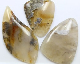 107.75 CTS  - 3 PCS AGATE POLISHED STONE PARCEL